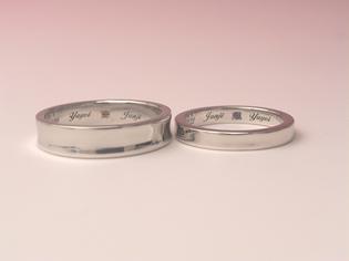 結婚指輪 逆甲丸