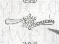 婚約指輪 デザイン画