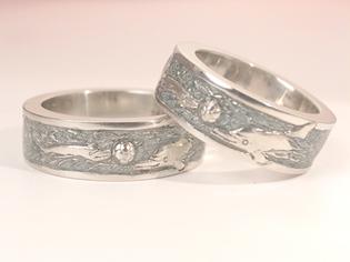 結婚指輪 イルカ