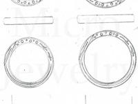 結婚指輪  サイド 彫り
